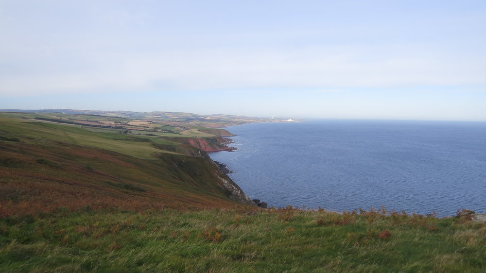 Looking back along the Cliffs