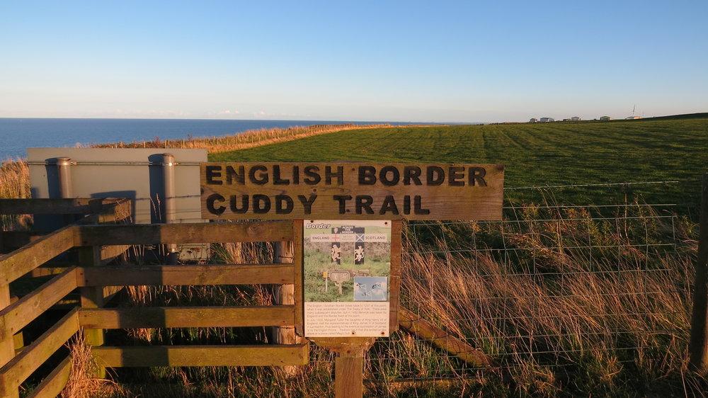 England Border Sign