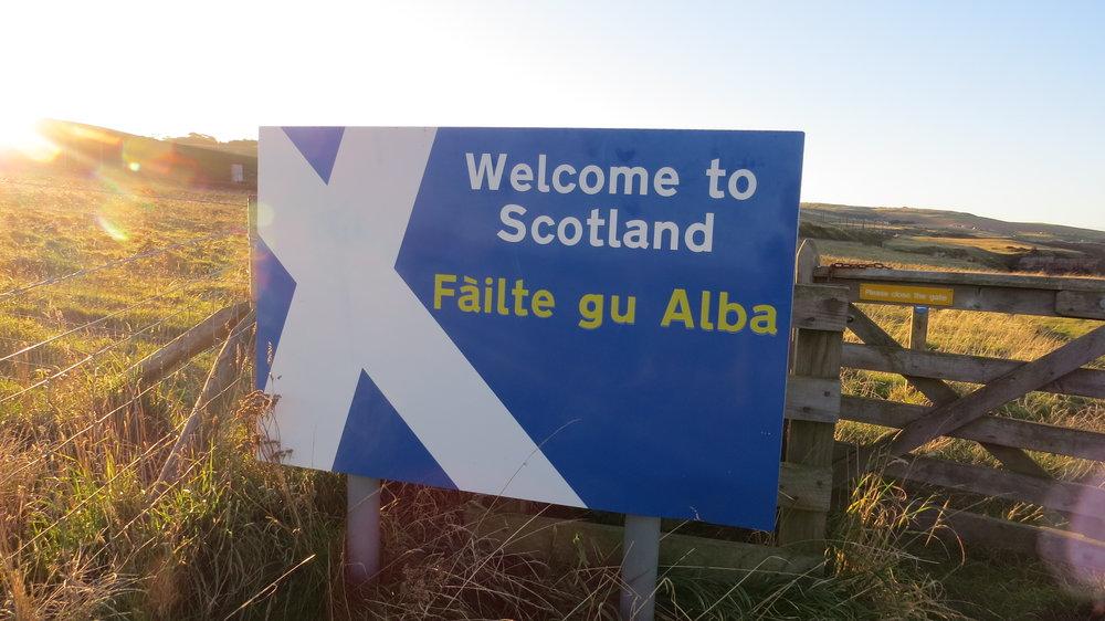 Scotland Border Sign