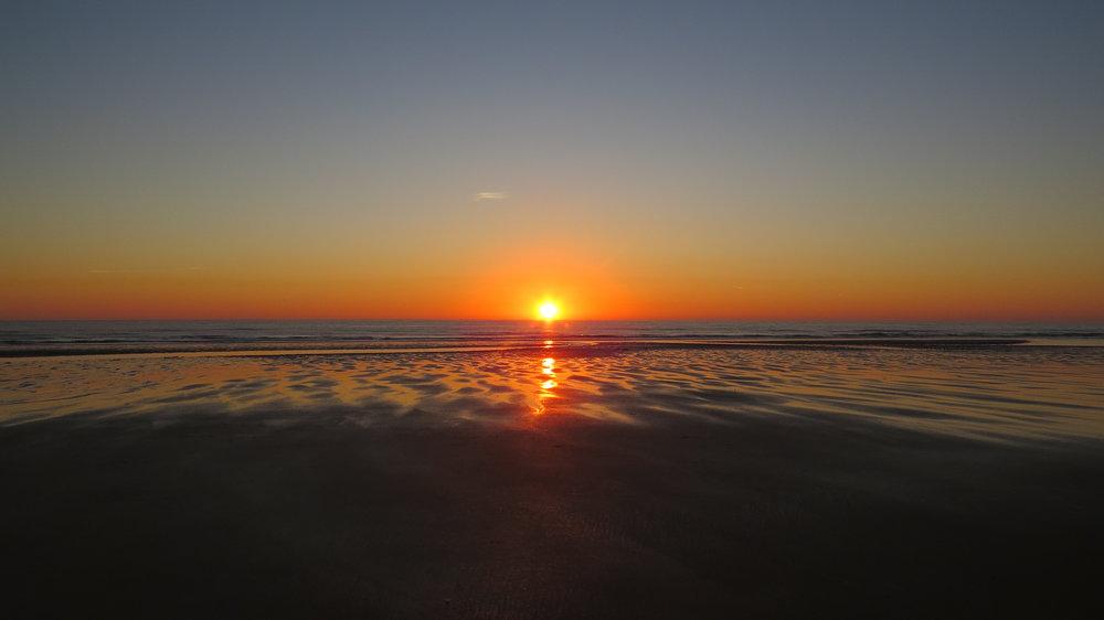 Sunrise over Druridge Bay