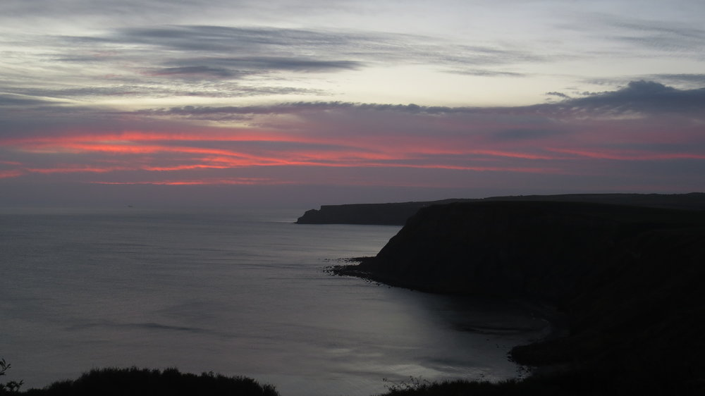 Morning Pink Skies over Cliffs