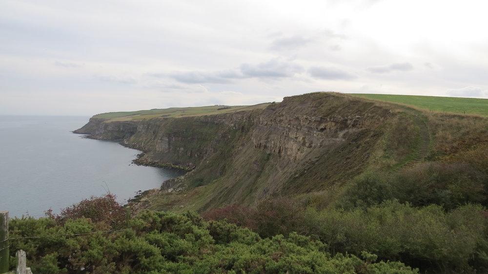 Cliffs before Robin Hood Bay