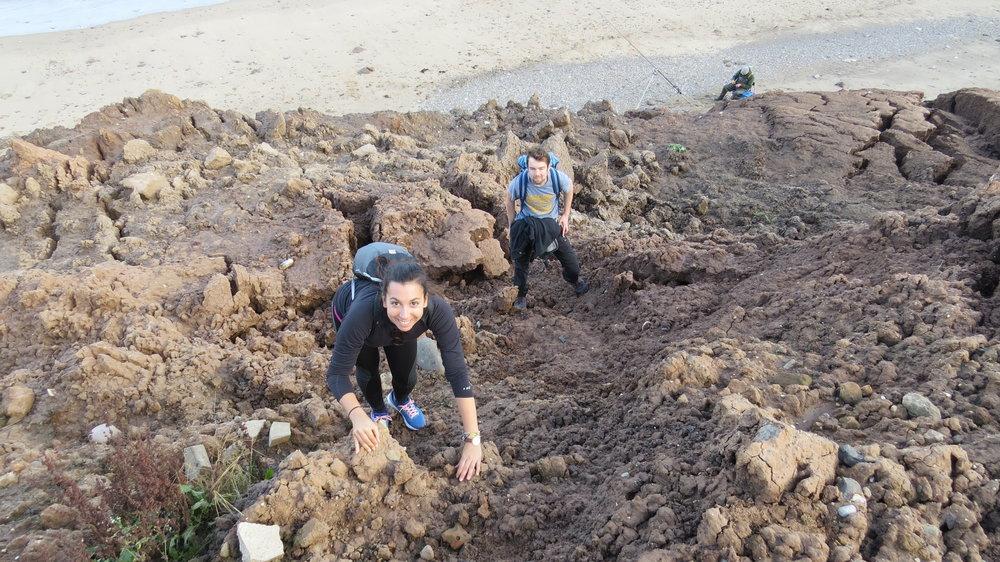 Start of Mud Cliff Scramble