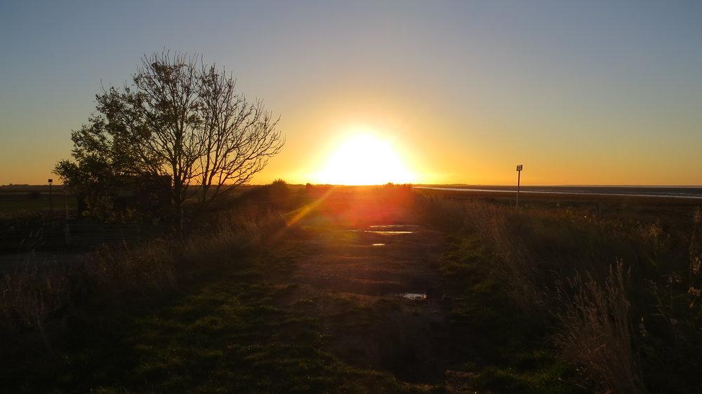 Sun Rising over Embankment