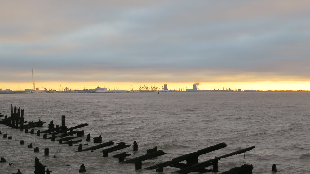 View back down the Humber