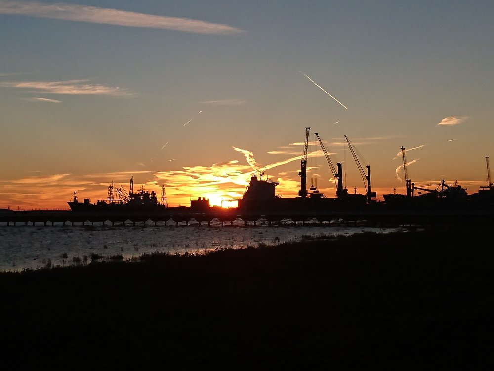 Sunrise above Ore Terminals