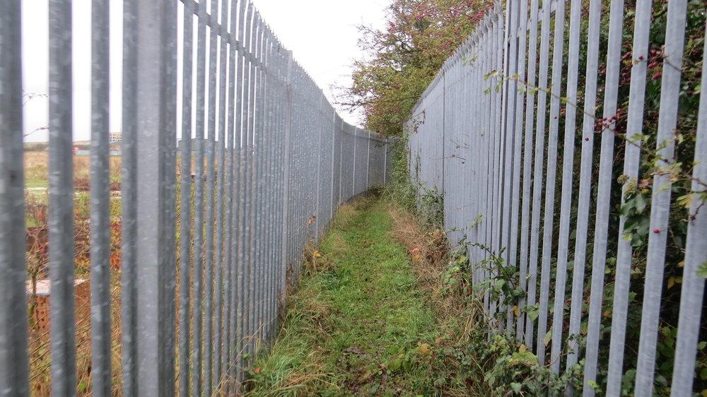 Walking between Security Fences
