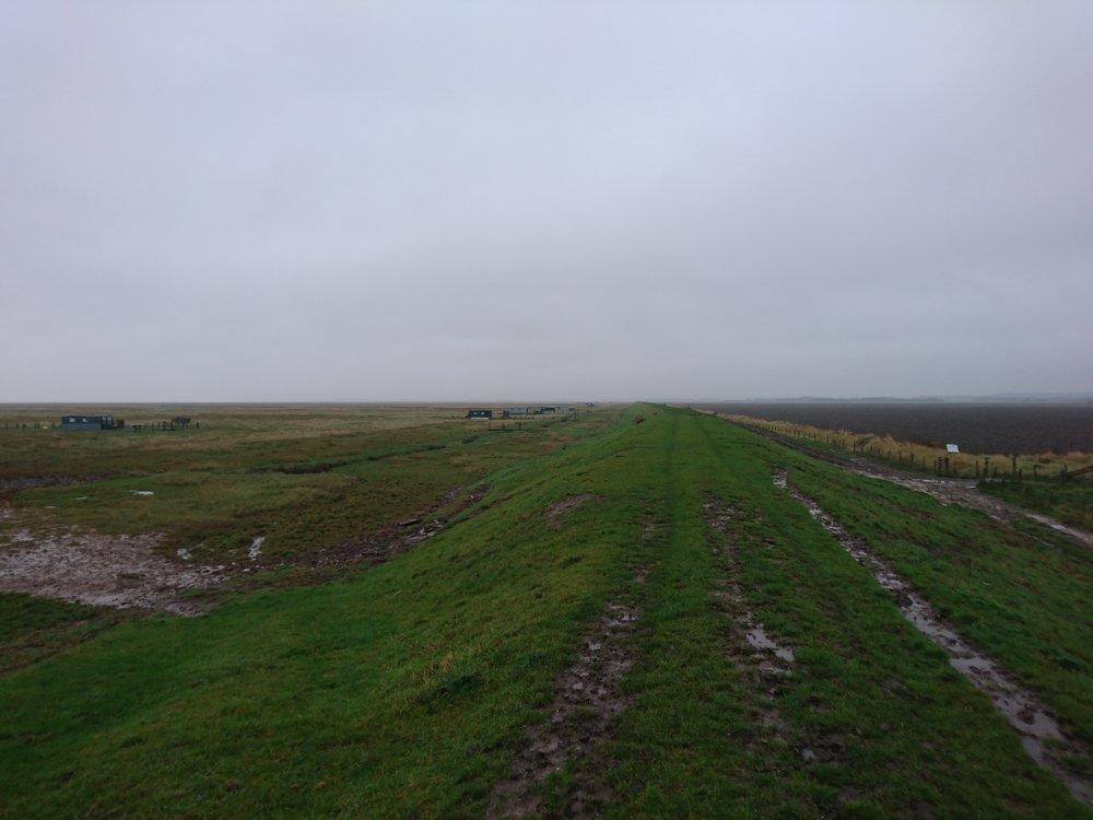 Hunting Huts besides Embankment