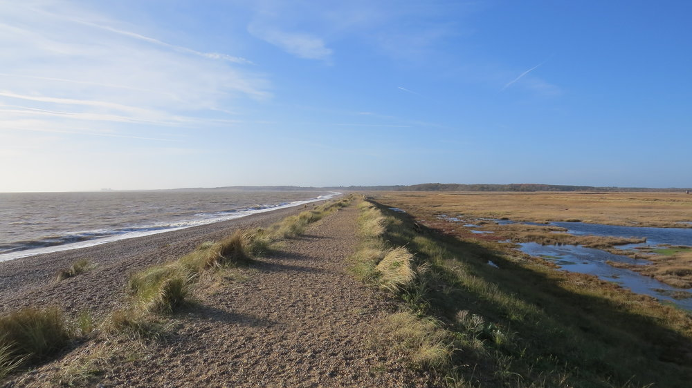 Embankment from Walberswick