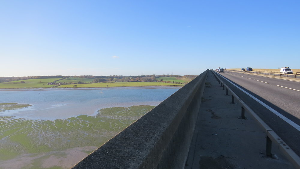 Walking over Orwell Bridge
