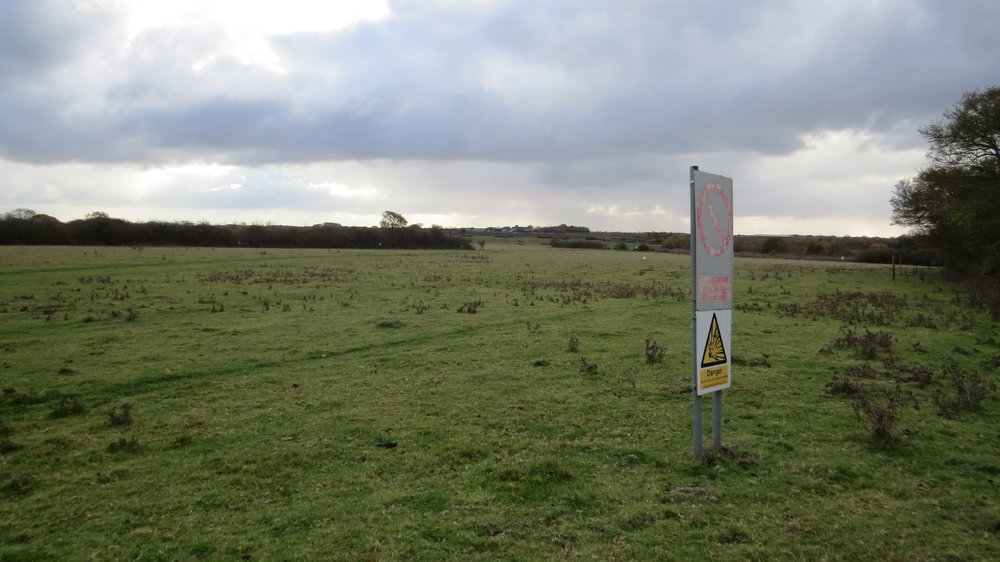 Path very close to Military Range