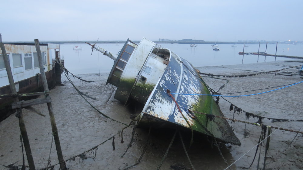 Moored Ship Capsized