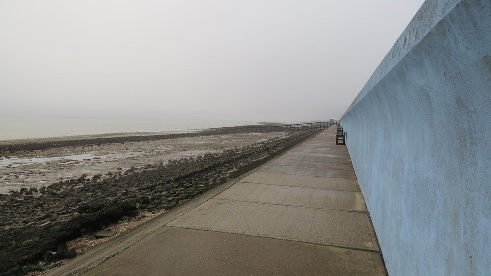 Blue Seawall of Canvey Island