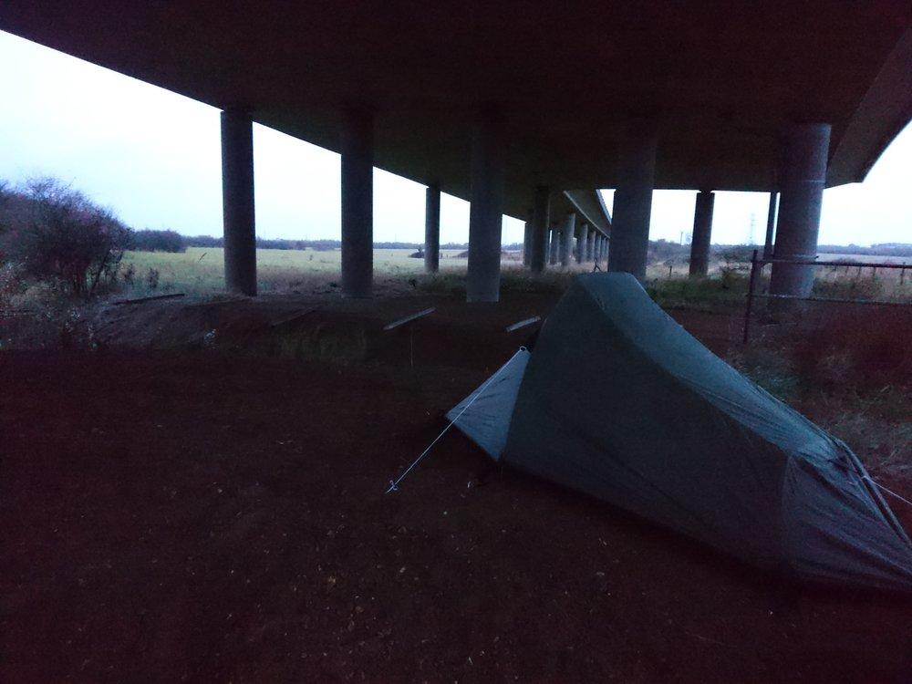 Tent under Bridge