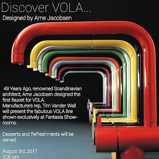 Getting excited for our Vola event August 3rd! #Vola, the original Scandinavian design faucet. In the Twin Cities, Vola is exclusively available at our Minneapolis showroom!
