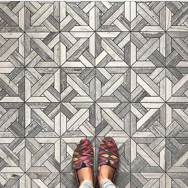 Parquet is old school, classic. And yet it's made new with Blue Stratta Limestone Parquet! Stocked item - quick turn around. Feel the Parquet love! @onyxfrance