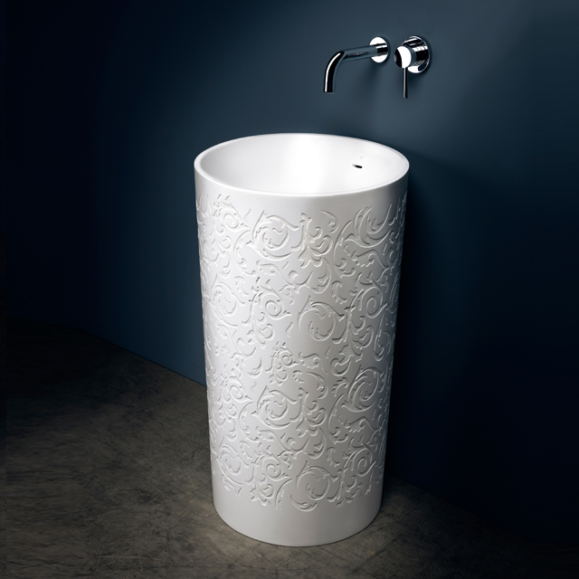 Embossed Pedestal Sink | Blu Bathworks