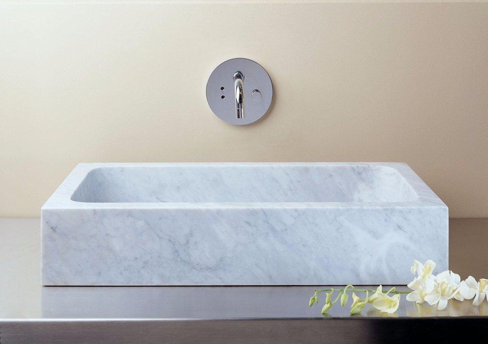 Carved Marble Vessel Bathroom Sink