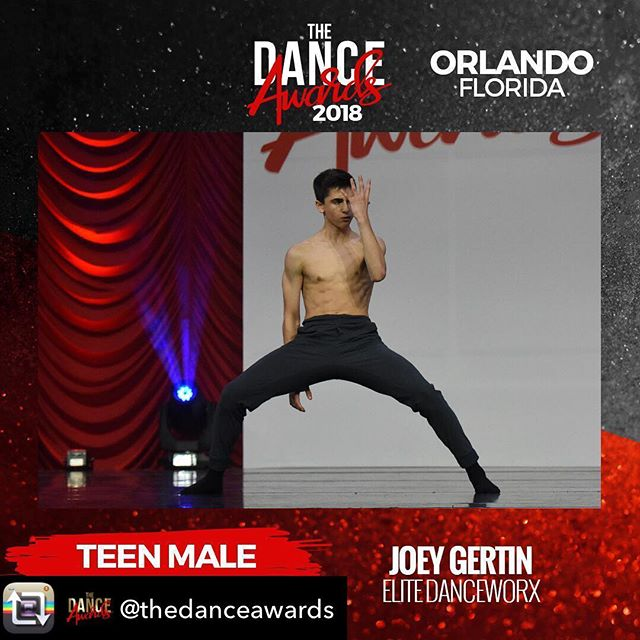 So proud of our Teen Male Best Dancer from @thedanceawards Joey Gertin!!!! Congratulations Joey! ❤️❤️❤️Repost from @thedanceawards using @RepostRegramApp - Congratulations to our 2018 Orlando Teen Male Best Dancer - @joeygertin !! #breakthefloor #thedanceawards #tda2018