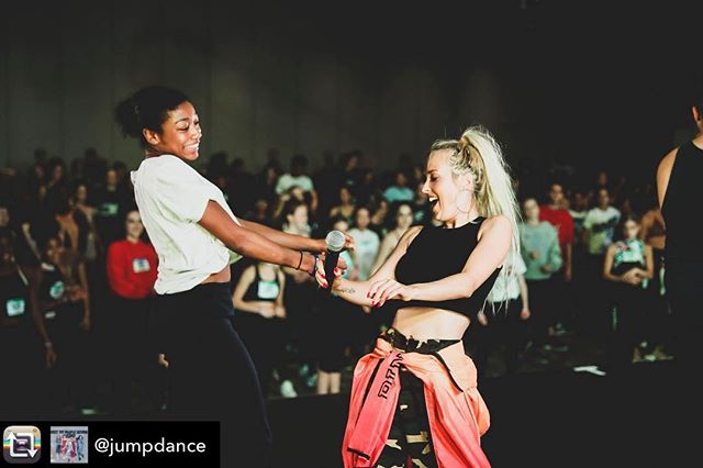 Our Teen Female Best Dancer @kelisrobinsonn living her best life @jumpdance  with @nikakljun.  Awesome job this weekend Kelis!! ❤️❤️. Repost from @jumpdance using @RepostRegramApp - Partying away!!! #jumpdance #jumptour #breakthefloor #jumpTO