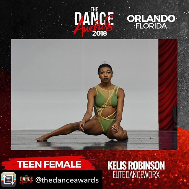 So proud of our Teen Female Best Dancer- Kelis Robinson! ❤️❤️❤️🎉🎉🎉Repost from @thedanceawards using @RepostRegramApp - Congratulations to our 2018 Orlando Teen Female Best Dancer - @kelisrobinsonn !! #breakthefloor #thedanceawards #tda2018