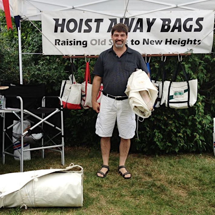 Paul Booth of Cotuit, MA with sails from OOD34, Eagle.