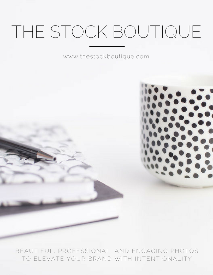 The Stock Boutique - beautiful, professional and engaging photos to elevate your brand with intentionality! We used our Classic stock photos in our introduction pamphlet. Be sure to subscribe to our newsletter to get your FREE stock photos.