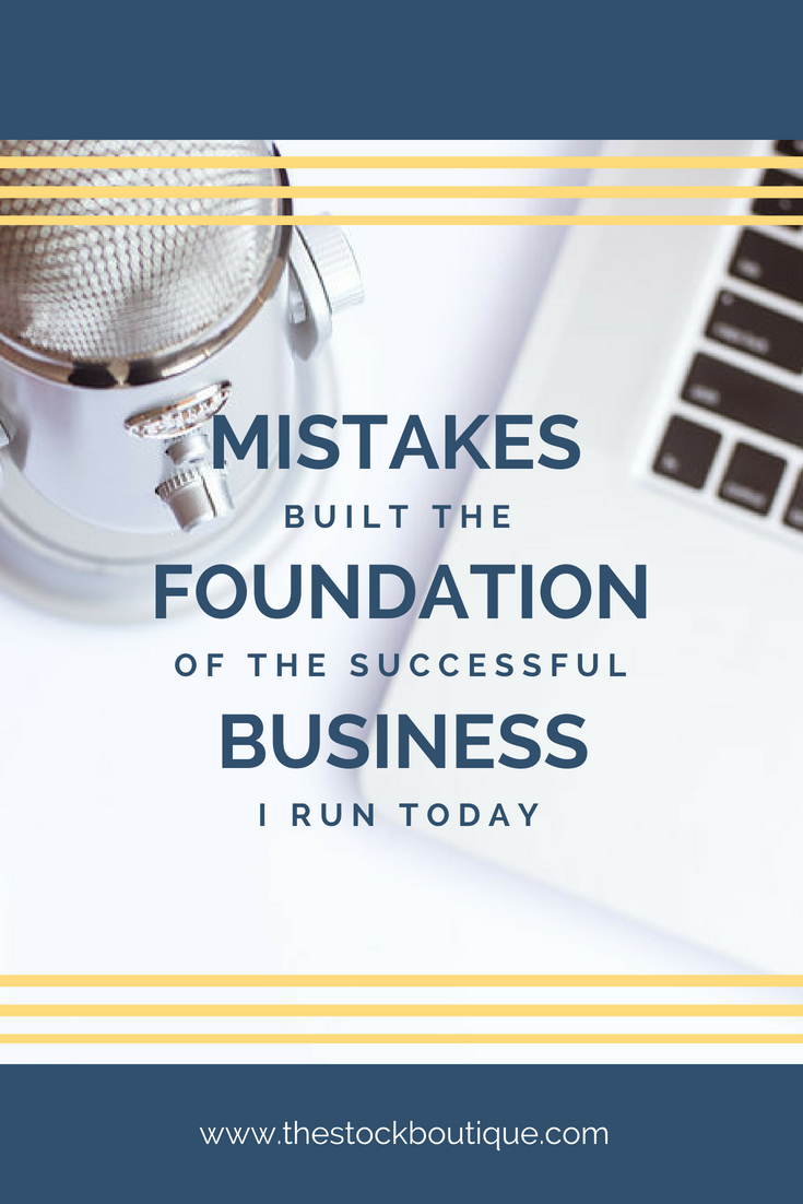 """In the words of the great Tony Robbins, """"no matter how many mistakes you make or how slow you progress, you are still way of ahead of anyone who isn't trying."""" How to overcome your mistakes as a business owner, solopreneur tips, small business tips. www.thestockboutique.com"""