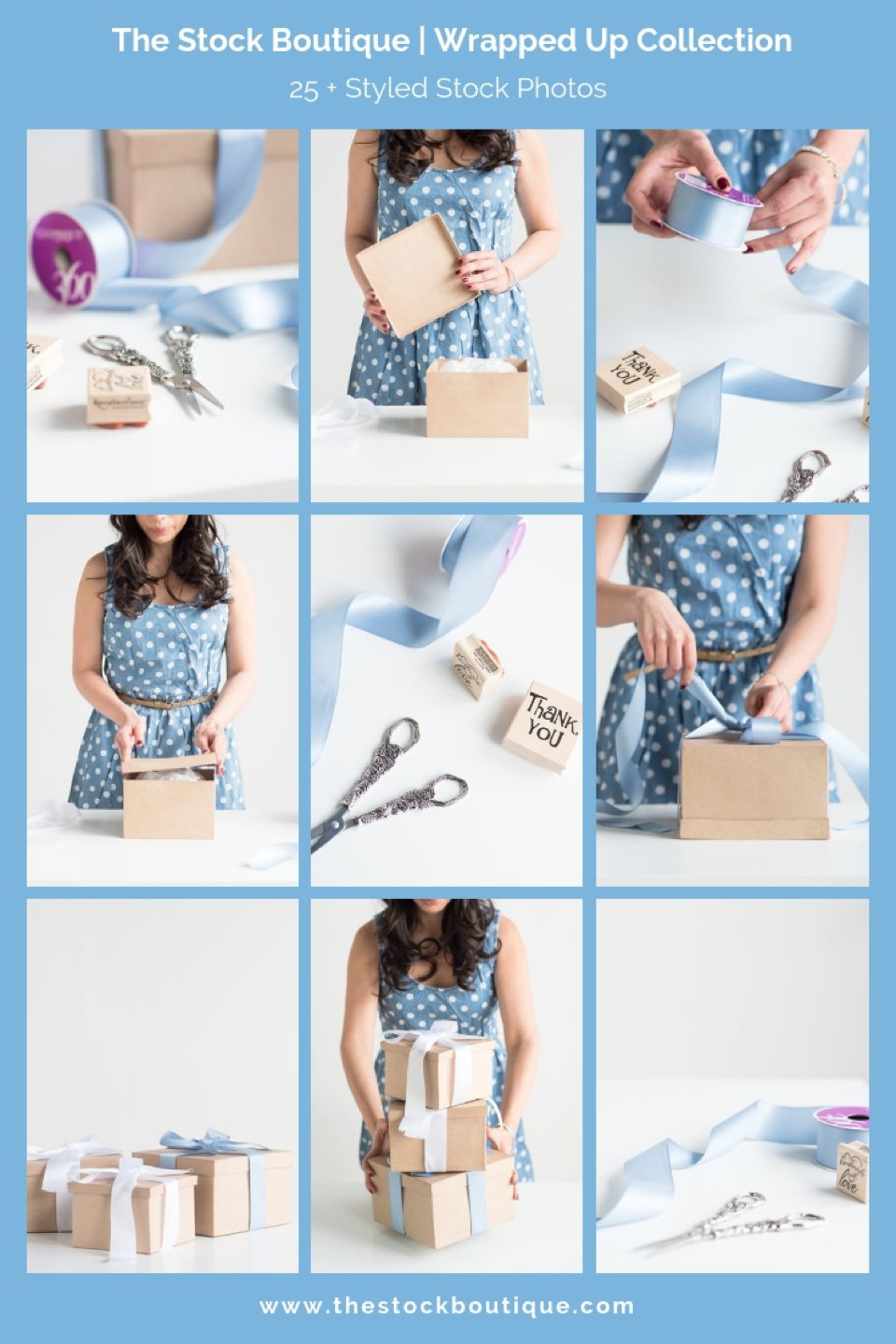 Female entrepreneur stock photography! Wrapped Up stock photography collection. We giveaway a FREE stock photo when you subscribe www.thestockboutique.com #stockphotography #stockphotos #femaleentrepreneur #giftwrappinginspiration #creativeentrepreneurs