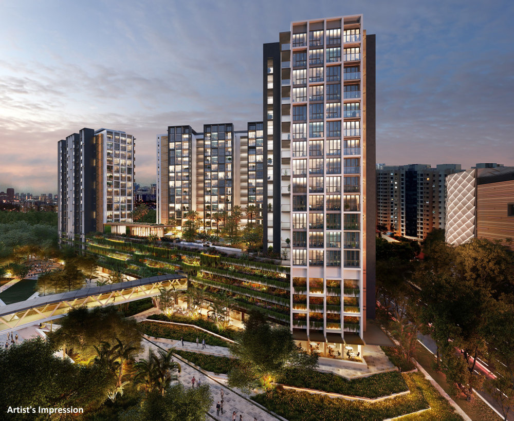 The Park Place Residence in Singapore. Photo Credit: The Park Place Residence