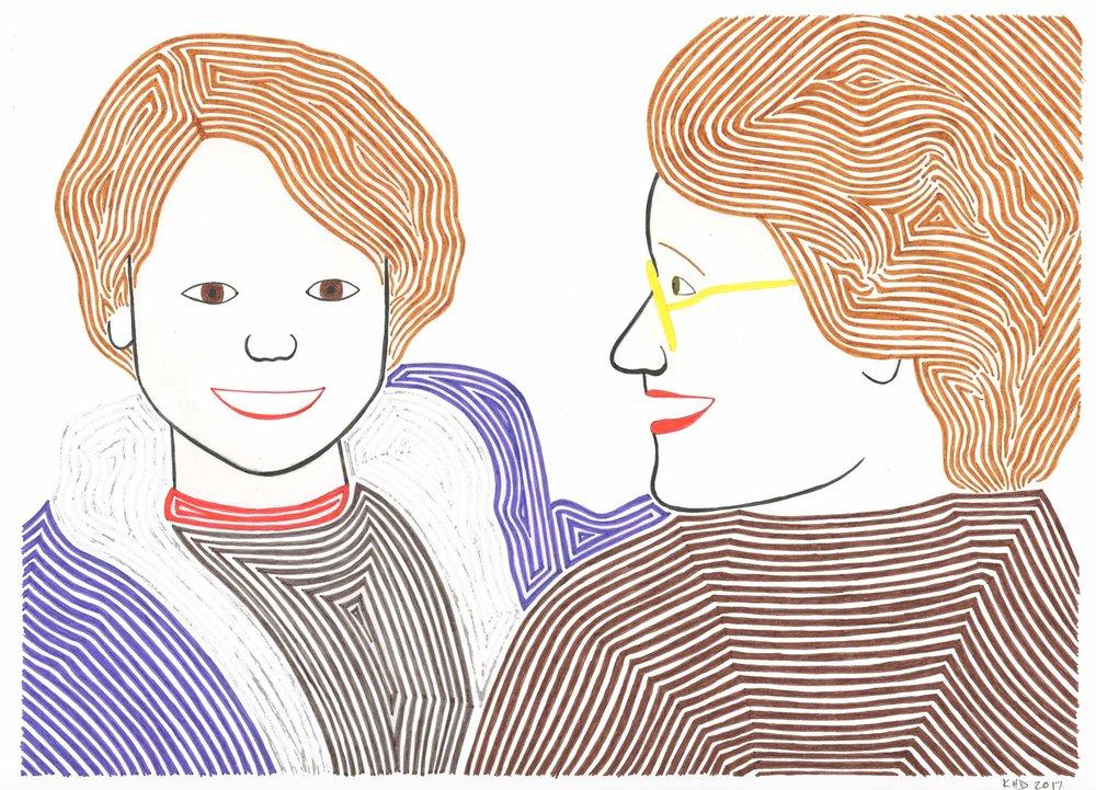 Katherine and Sarah