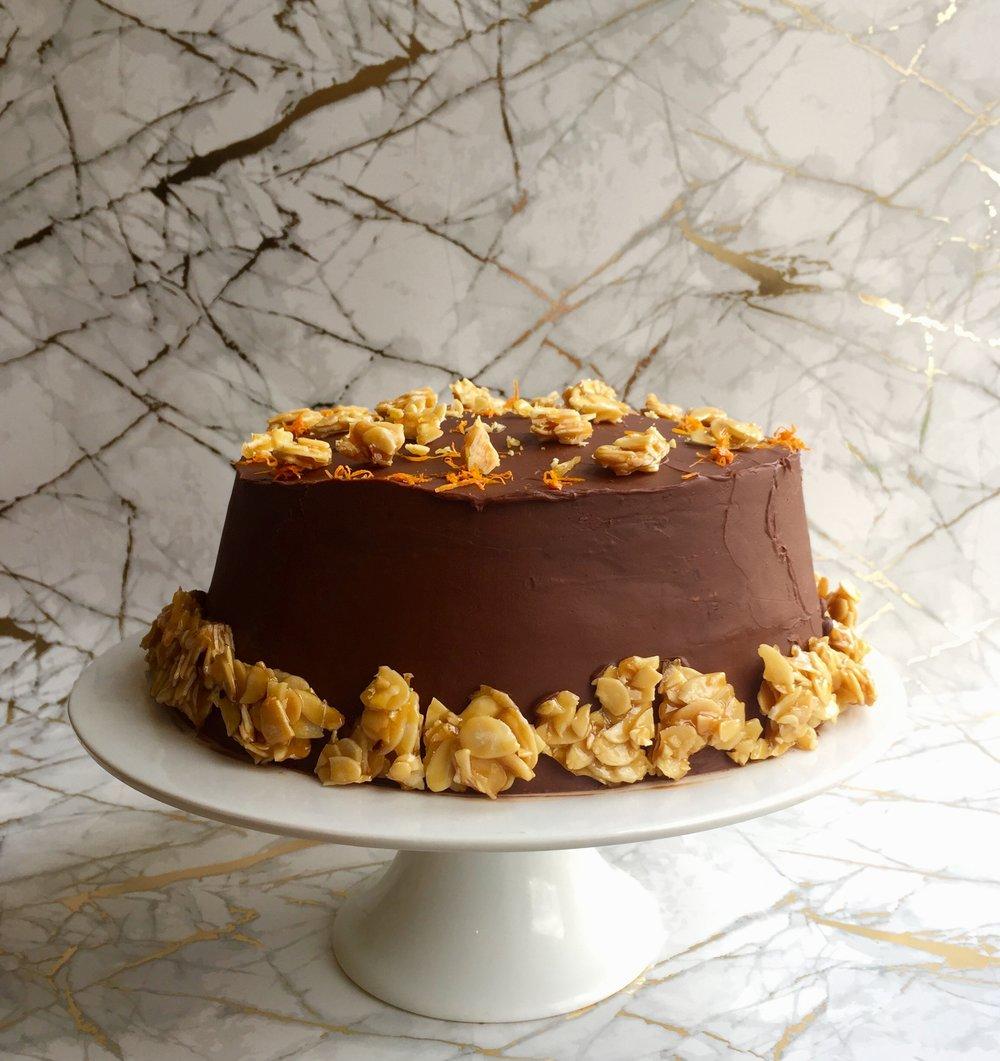 Chocolate Orange & Ameretto Pancake Cake — Drink Gin & Bake