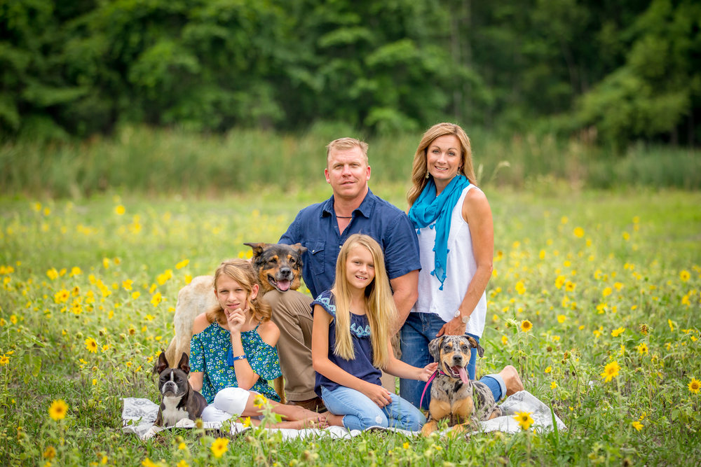 Photographing families with pets