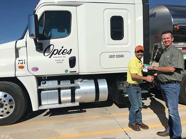 Congratulations to our Facebook contest winner, Matt Stewart who received his $100 Visa gift card yesterday! Keep on truckin'‼️ ••••• #contest #winner #congratulations #thankyou  #transportation #jobs #work #hiring #liquidbulk #driver #cdl #company #drivers #trucking #otr #foodgrade #transport #truckdriver #job #business #freightliner #trucklife #nowhiring
