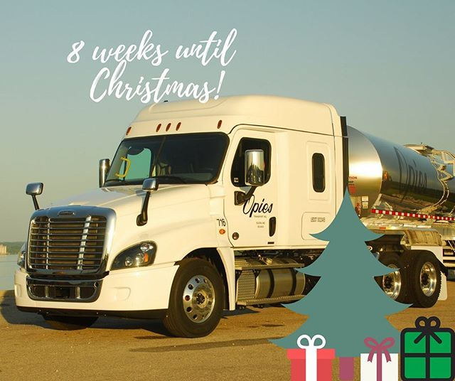 8️⃣ weeks until Christmas ‼️🎁🎄 there is still time to get out on the road & get back home for the holidays! To find out more visit opiestransport.com today! ••••••• #homefortheholidays #movingamerica #christmas #holidayseason #transportation #jobs #work #hiring #liquidbulk #driver #cdl #company #drivers #trucking #otr #foodgrade #transport #truckdriver #job #business #freightliner #trucklife #nowhiring