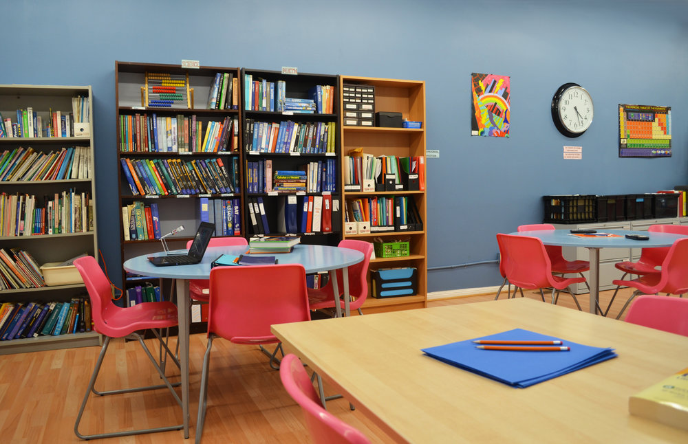 Our lower level offers additional work space!