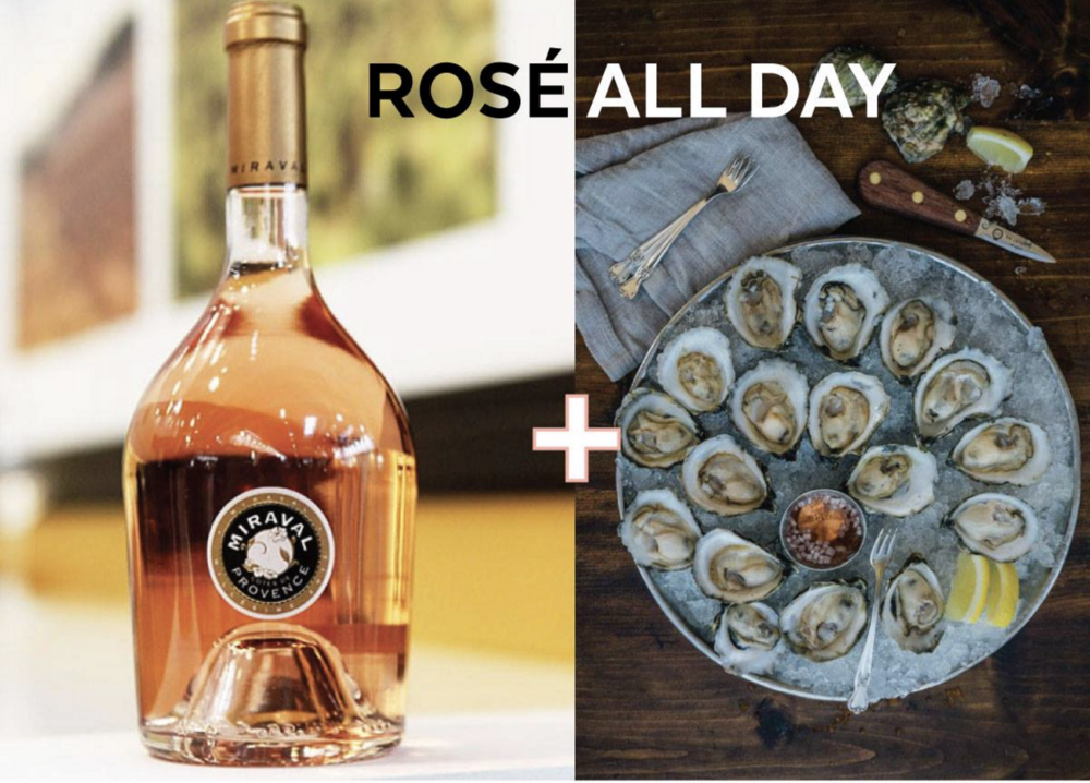 Sunday Aug. 20th 4-7PM - Rosé All DaySip on our Frose cocktail featuring Mirval Rose, devour Island Creek Oysters & listen to the sweet sounds of Nate Watkins all on Alma NOVE's beautiful waterfront patio!