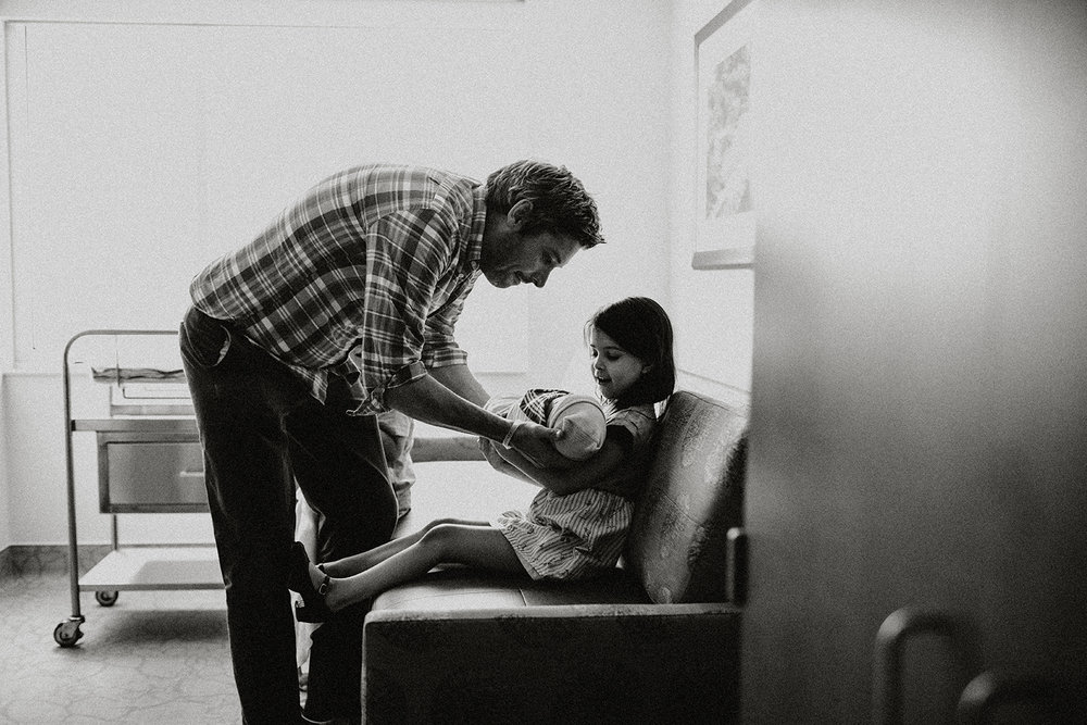 A newborn hospital photo session.