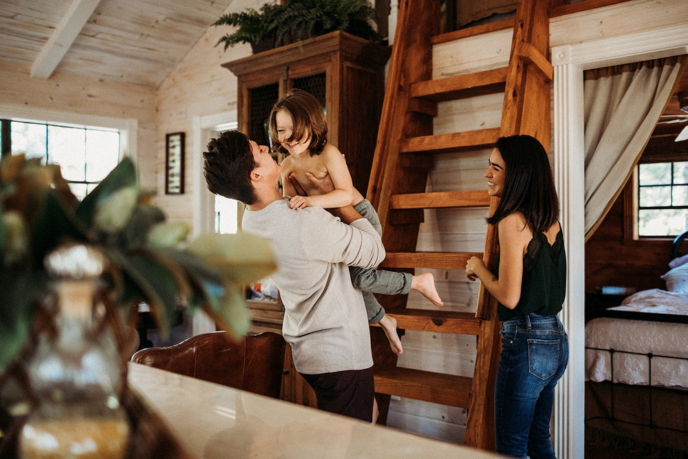 On location lifestyle family session