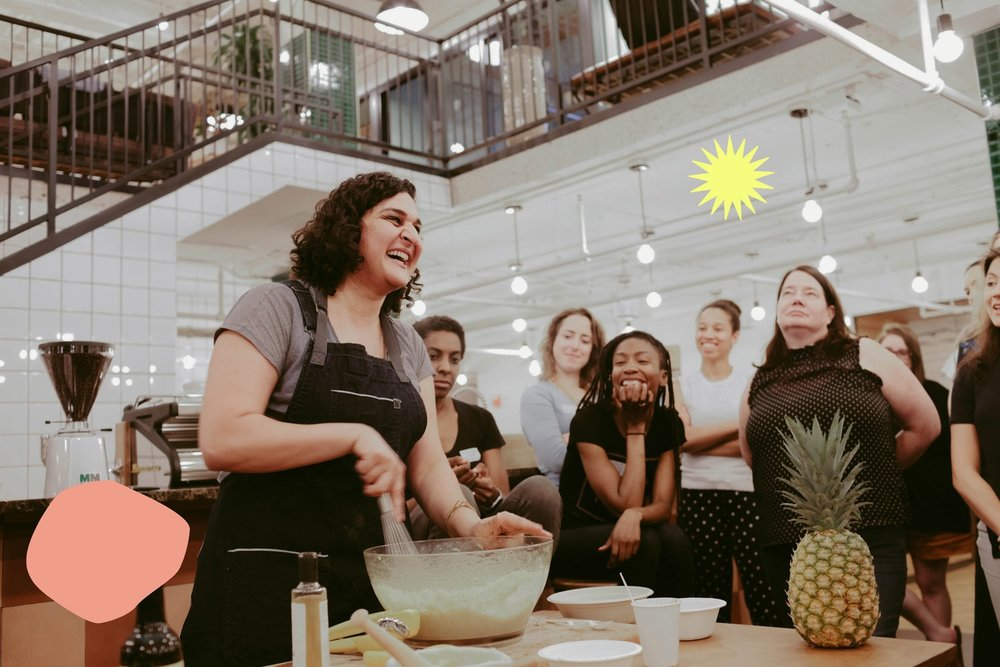 We create unique experiences with female food leaders that also build community in real life. Together, we connect more deeply with each other and the leaders who inspire us. -