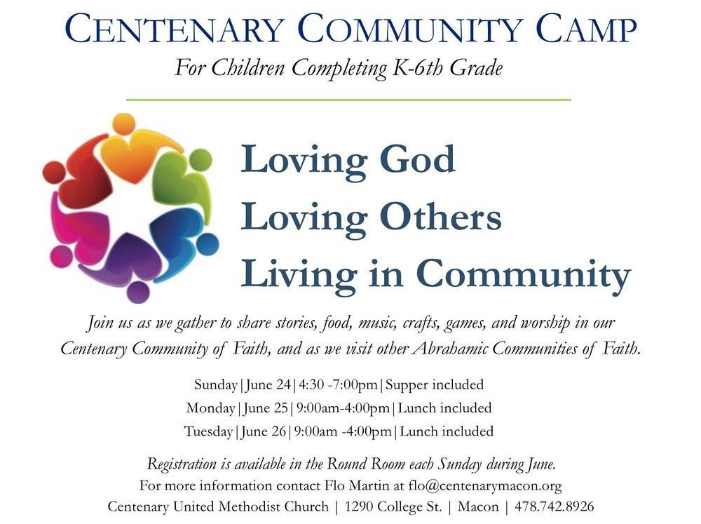 Centenary Community Camp flier.jpg