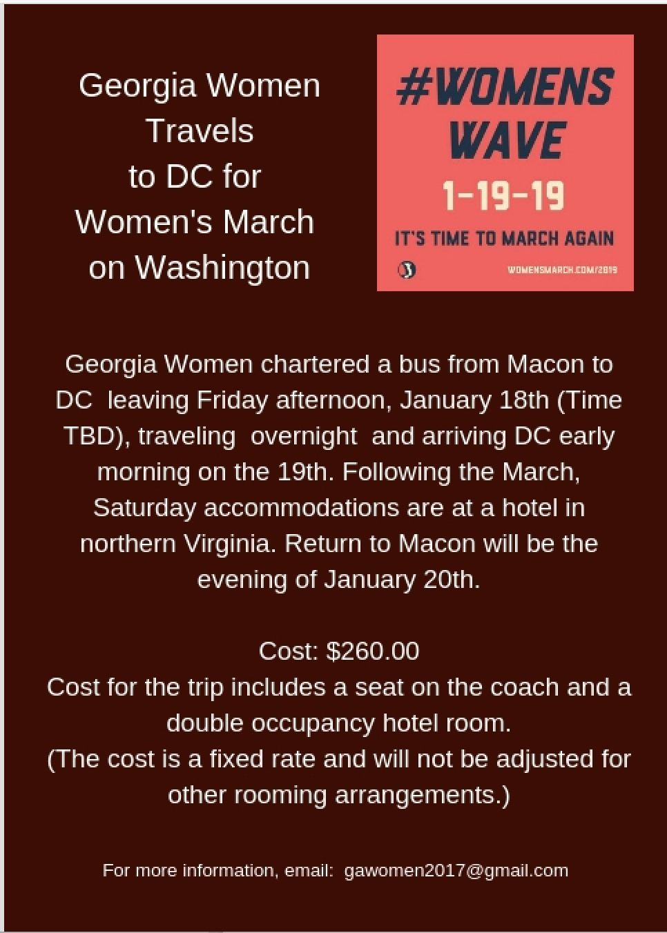 This event is sponsored by the Georgia Women organization, in which many in the Centenary Community participate.