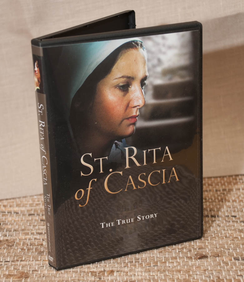 - $15                           Saint Rita of Cascia - The True Story Brought to you by Ignatius Press,  this docu-drama tells the life story of Saint Rita of Cascia.  Through dramatization the film brings to life the pain, sorrow, tragedy and ultimate joy in the life of our patron saint who lived in 14th century Italy.Running time: 61 minutesColor Wide Screen