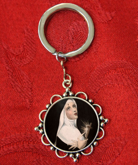 - $5   This handmade Saint Rita keychain is one of our most exceptional products. The image of Saint Rita was beautifully drawn by Fr. Gene DelConte, OSA, our beloved friar who passed away in 2016.