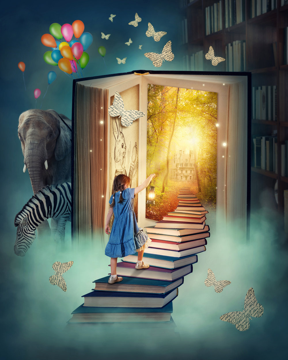 Shutterstock image - (https://www.shutterstock.com/image-photo/little-girl-walking-stairs-magic-book-124521184?src=JGWOTJssCqOKGms0dsDq9Q-1-12)