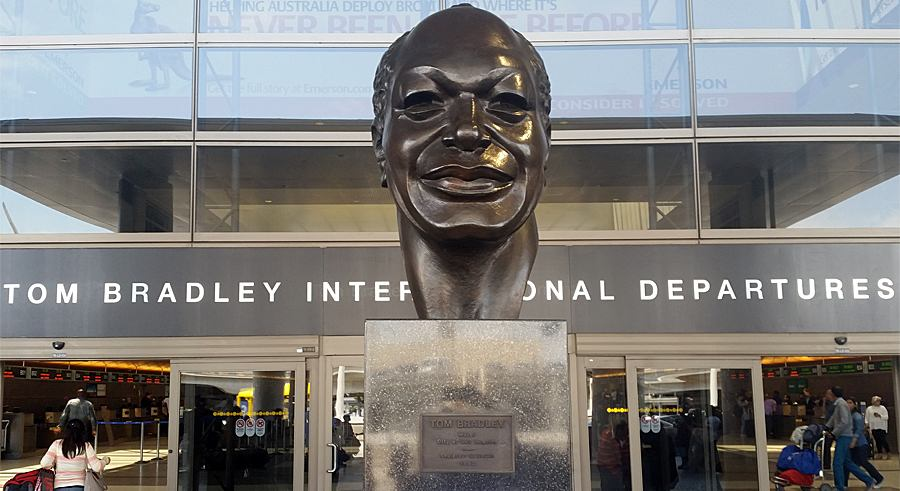 Mayor Tom Bradley bust at the Los Angeles International Airport. Photo: Andreas Faessler