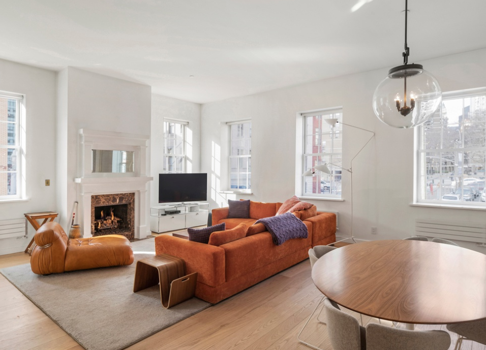 130 BEEKMAN STREET, 2A - $5,600,000 // 5 Beds // 4 Baths // 3,232 SQFTA palatial duplex, gut-renovated condo, situated two blocks from Pier 17 in the Seaport District. This 5-bedroom, 4-bathroom home is a blend of contemporary sleek and sophisticated charm. Features of this 3,232 sq. ft. apartment include gorgeous red oak hardwood flooring, high ceilings, western and southern exposure, custom lighting and closets, three fireplaces, an office space, whitewashed exposed brick walls, and an in-unit washer/dryer.