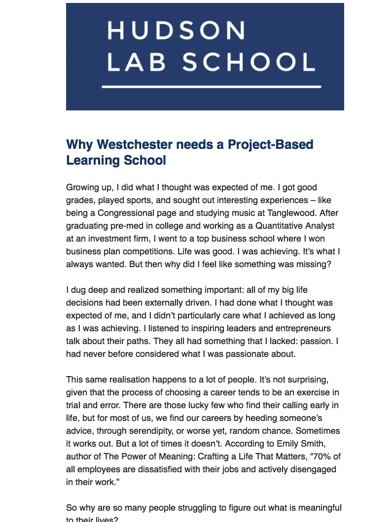 Why I started a PBL School