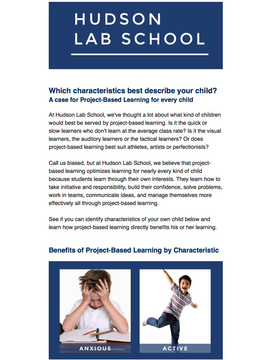 Children for Project-Based Learning PBL
