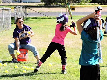 Founder Kriss Dammeyer with youth, providing recreational opportunities for children through Made To Thrive.